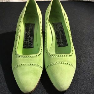 Clementine Couture Suede Green ShoesS8.5 France.
